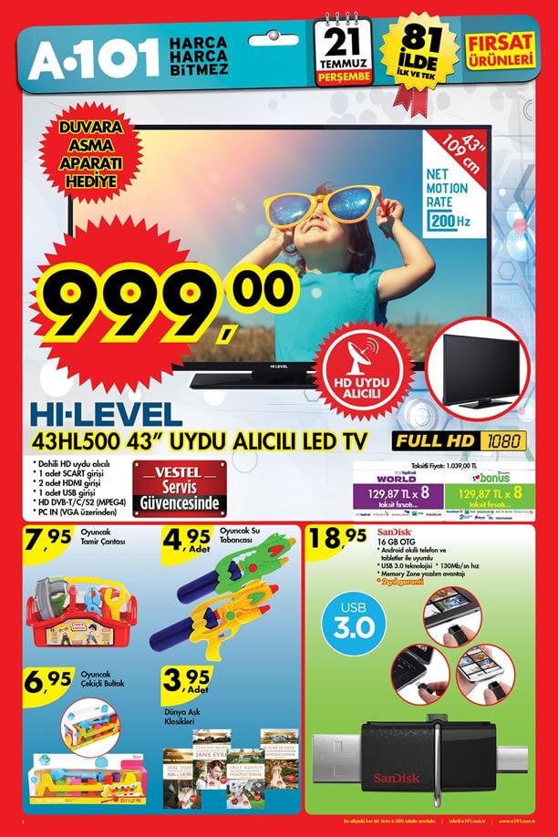 a101-aktuel-21-temmuz-2016-katalogu-hi-level-43hl500-led-tv